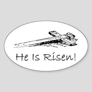 easter he has risen cross Sticker
