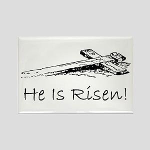 easter he has risen cross Rectangle Magnet