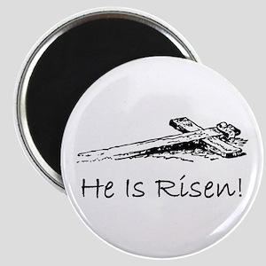 easter he has risen cross Magnet