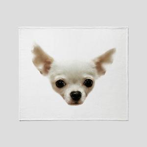 White Chihuahua Throw Blanket