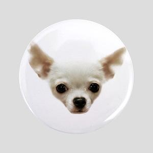 "White Chihuahua 3.5"" Button"