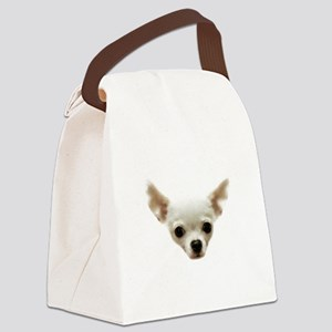 White Chihuahua Canvas Lunch Bag