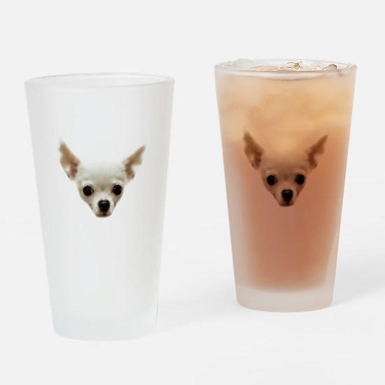 White Chihuahua Drinking Glass