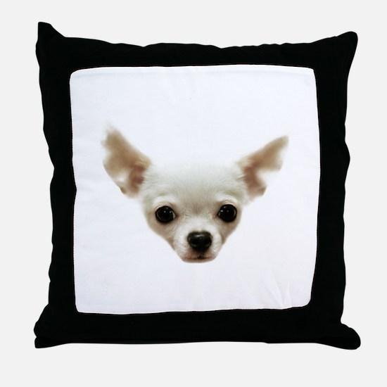 White Chihuahua Throw Pillow