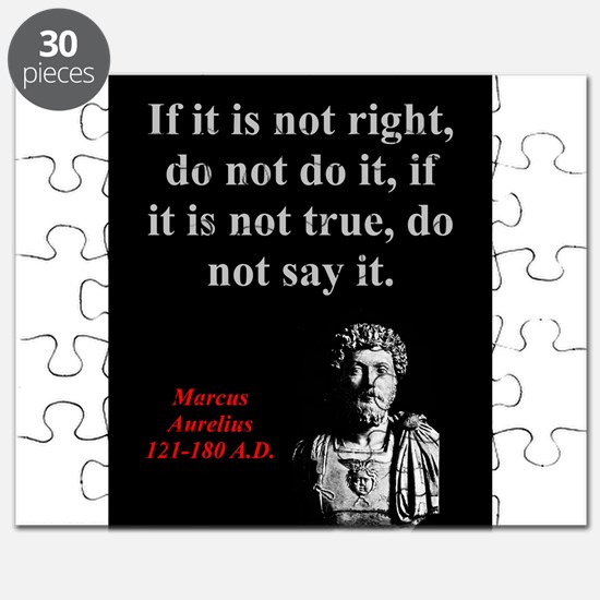 If It Is Not Right - Marcus Aurelius Puzzle