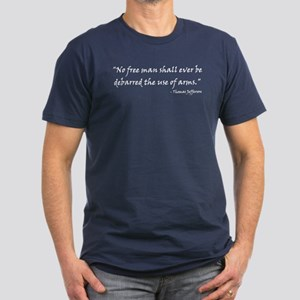 Men's Fitted T-Shirt (dark with white text)