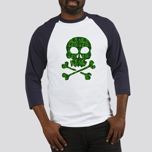 Skull Made of Shamrocks Baseball Jersey