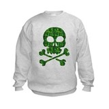 Skull made of shamrocks Crew Neck