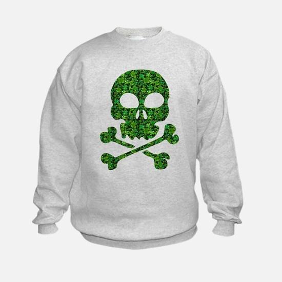 Skull Made of Shamrocks Sweatshirt