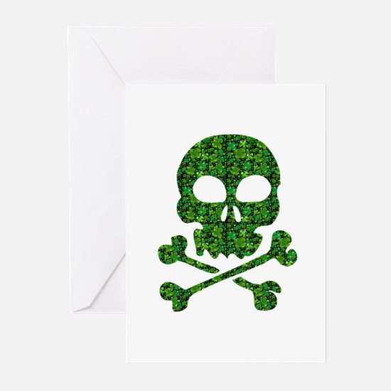 Skull Made of Shamrocks Greeting Cards (Pk of 10)