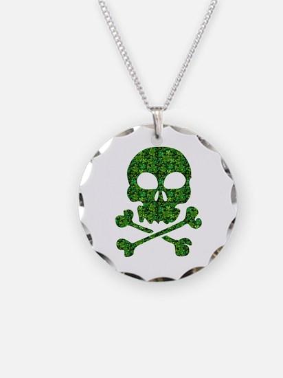 Skull Made of Shamrocks Necklace