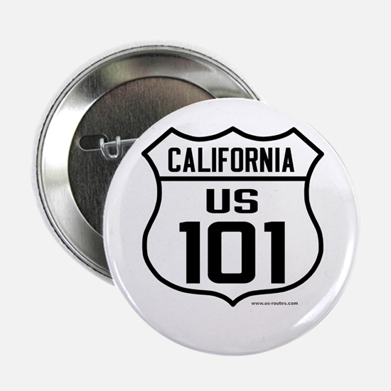 """US Route 101 - California 2.25"""" Button"""