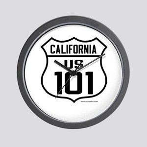 US Route 101 - California Wall Clock