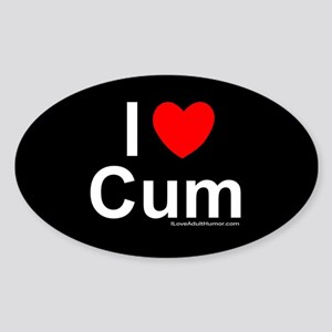 Cum Sticker (Oval)