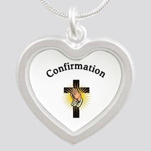 Confirmation Silver Heart Necklace