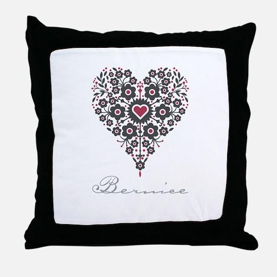 Love Bernice Throw Pillow
