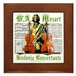 Mozart Sinfonia Concertante Framed Tile