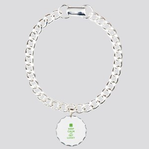 Keep calm and get lucky Charm Bracelet, One Charm