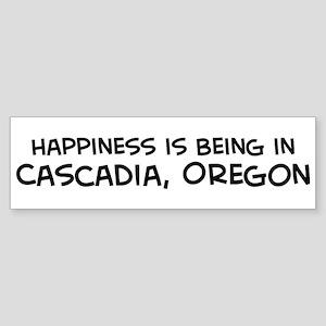 Cascadia - Happiness Bumper Sticker