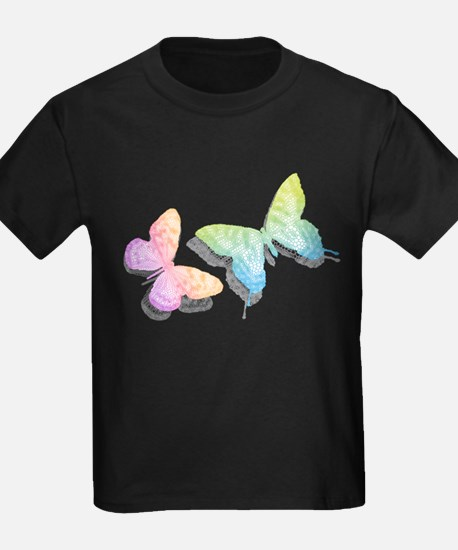 colorful abstract butterflies with shadow T
