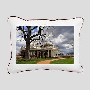 Monticello Rectangular Canvas Pillow