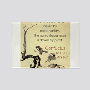 The Virtuous Man Is Driven - Confucius Magnets