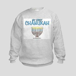 My First Chanukah Kids Sweatshirt