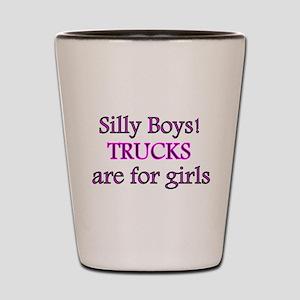 4cc58b37cb69 Silly Boys Trucks Girls Shot Glasses - CafePress