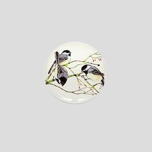 Chickadee gathering Mini Button