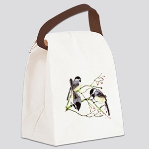 Chickadee gathering Canvas Lunch Bag