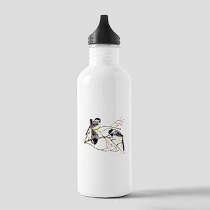 Chickadee gathering Water Bottle