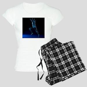 Running skeleton, artwork - Women's Light Pajamas
