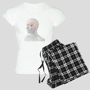Head anatomy, artwork - Women's Light Pajamas