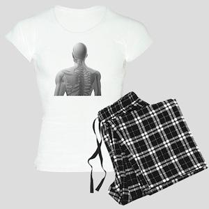 Upper body bones, artwork - Women's Light Pajamas