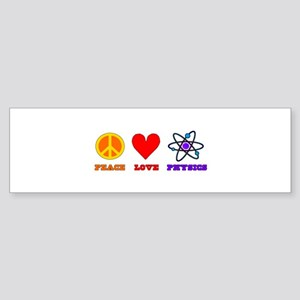 Peace Love Physics Sticker (Bumper)