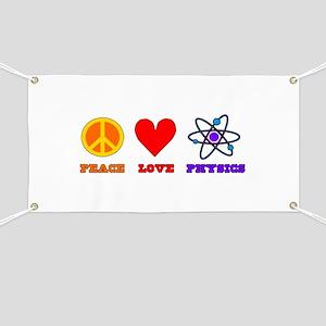 Peace Love Physics Banner