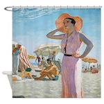 Vintage Alexander Beach Shower Curtain