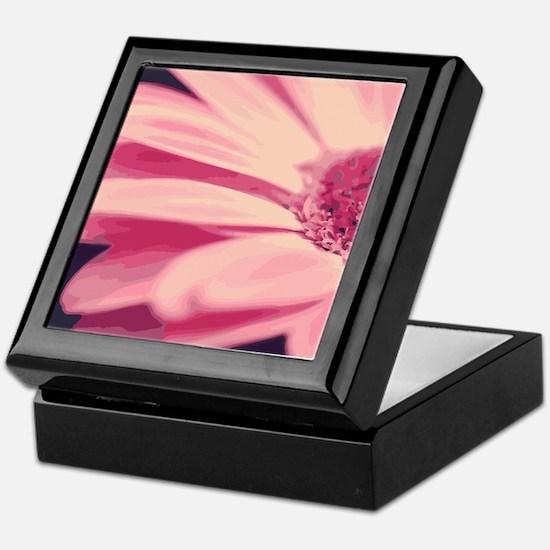 Pretty Pink Gerbera Daisy Keepsake Box