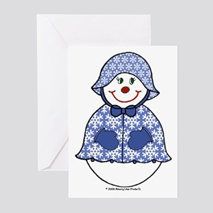 Snowgirl Snowflakes Greeting Cards (Pk of 10)