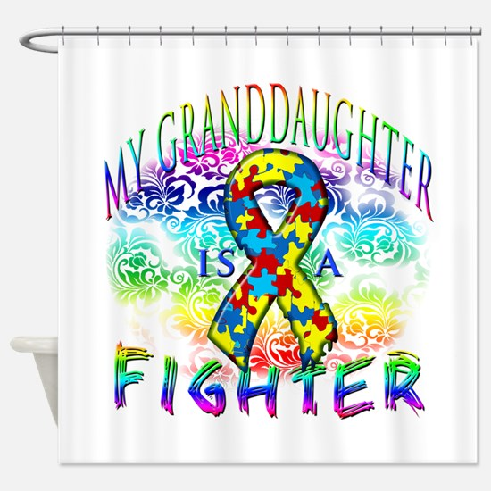 My Granddaughter Is A Fighter Shower Curtain
