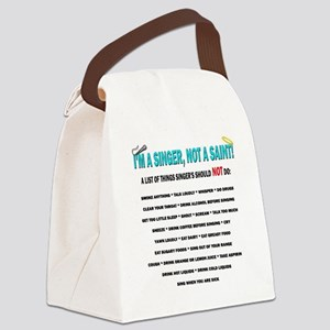 Singer Not a saint b Canvas Lunch Bag