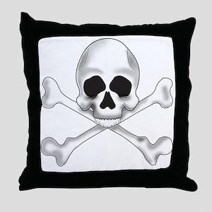 Skully Crossbone Throw Pillow