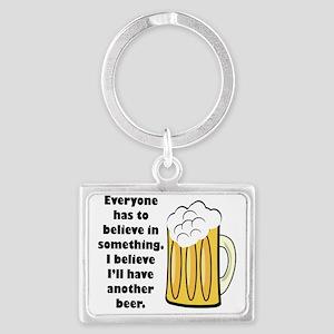 believe-in-beer Landscape Keychain