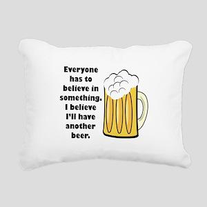 believe-in-beer Rectangular Canvas Pillow