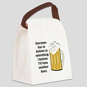 believe-in-beer Canvas Lunch Bag