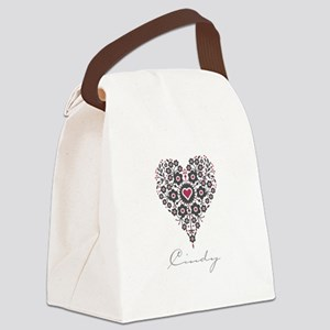 Love Cindy Canvas Lunch Bag