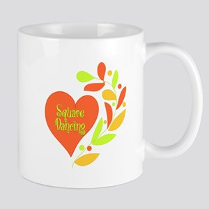 Square Dancing Heart Mug