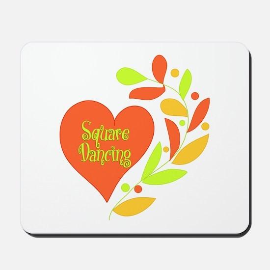 Square Dancing Heart Mousepad