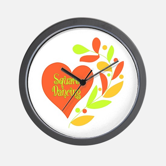 Square Dancing Heart Wall Clock