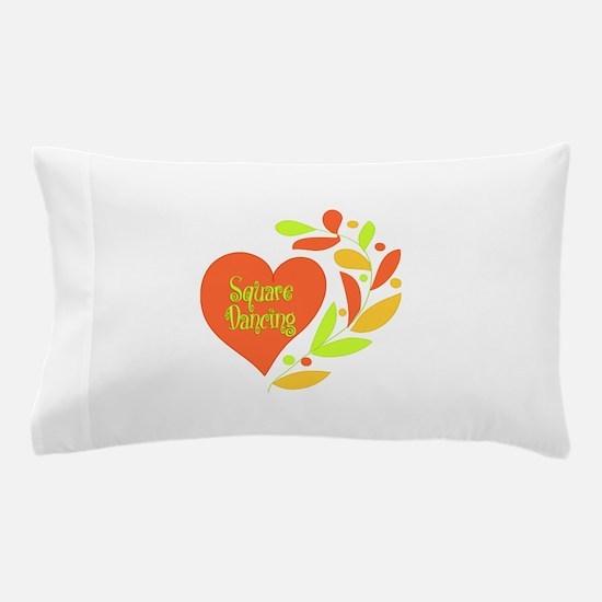 Square Dancing Heart Pillow Case